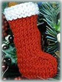 mini Christmas stocking ornament