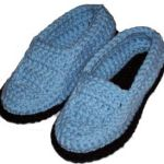 crocheted moccasin slippers