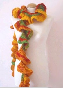 crocheted spiral scarf pattern