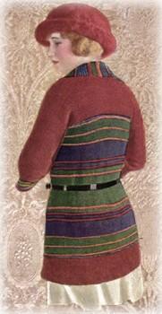 vintage knitting striped wool tuxedo