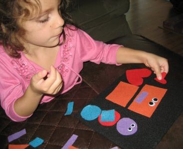 felt board and felt shapes