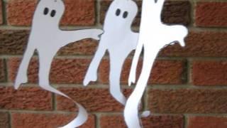 paper spiral hanging ghosts