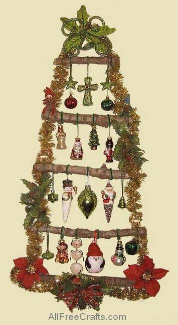 homemade christmas wall tree
