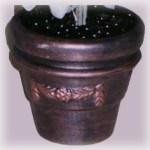 Faux Aged Copper Pot