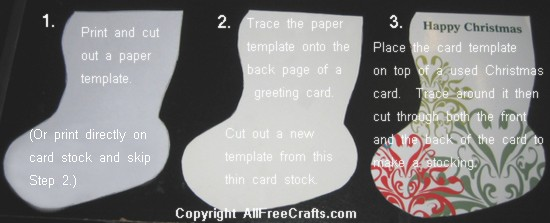 laced card stockings instructions