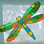 Faux Stained Glass Dragonfly