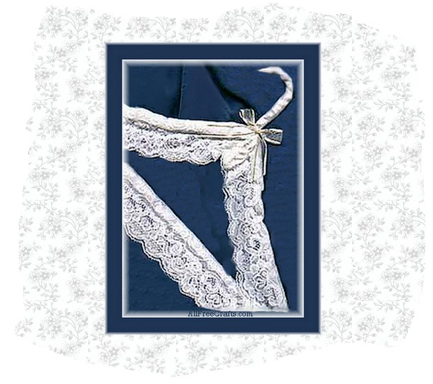 lace wrapped hanger