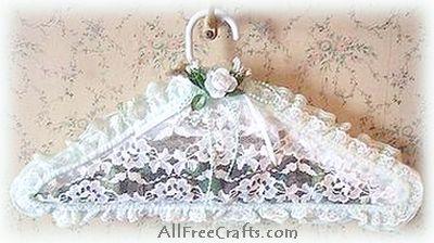 lace potpourri filled clothes hanger