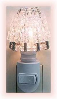 safety pin and crystal bead night light shade