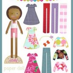 free printable African American paper doll