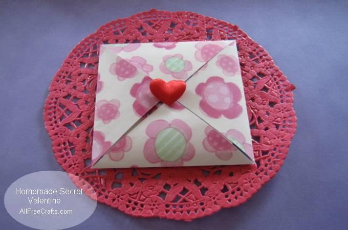 homemade secret paper Valentine