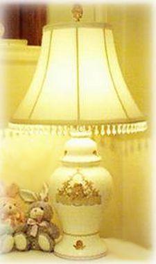 shabby sweet sticker lamp