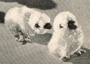 original vintage pompom chicks