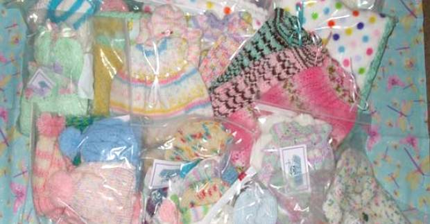 assorted handmade donations to hospitals