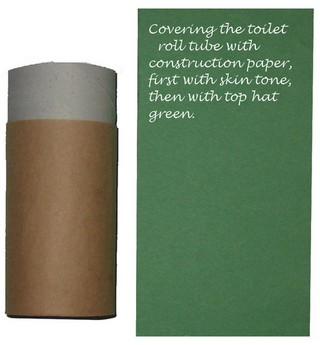 construction paper base for top hat leprechaun