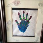 framed family hand prints