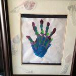 framed family hand prints