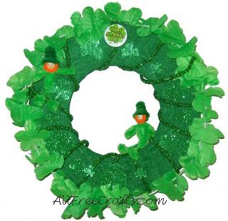 homemade st patrick wreath
