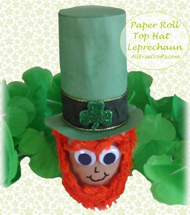 paper toilet roll top hat leprechaun