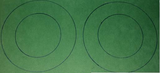 two circles for a leprechaun hat