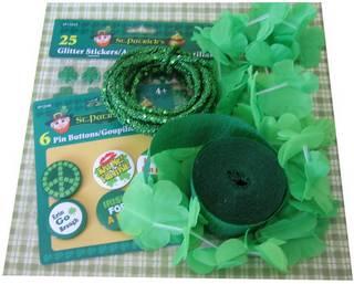 st patrick's day wreath supplies