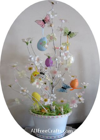 completed homemade Easter tree