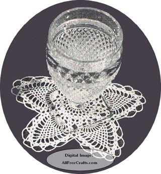 crocheted pineapple glass doily pattern