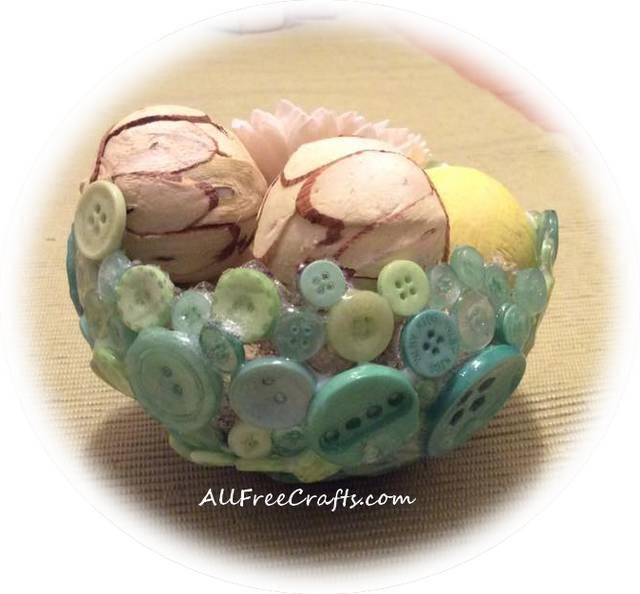 modge podge button bowl