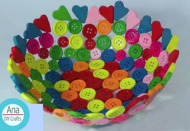Button bowl by Ana DIY Crafts