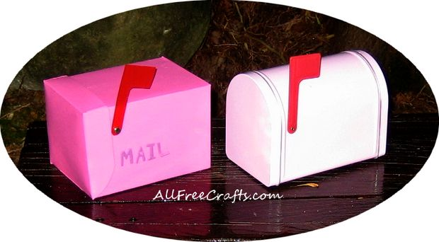 two fairy mail boxes