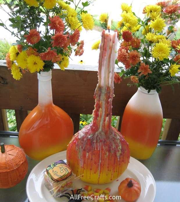 halloween drip candle