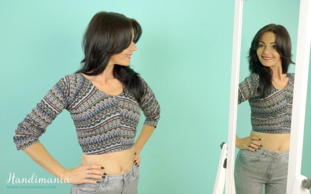 easy no-sew crop top made from leggings