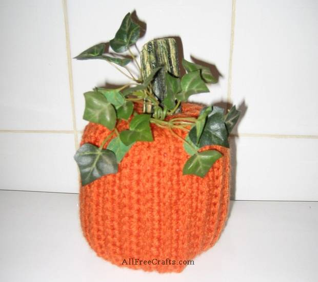 Crocheted Pumpkin Toilet Paper Cover All Free Crafts