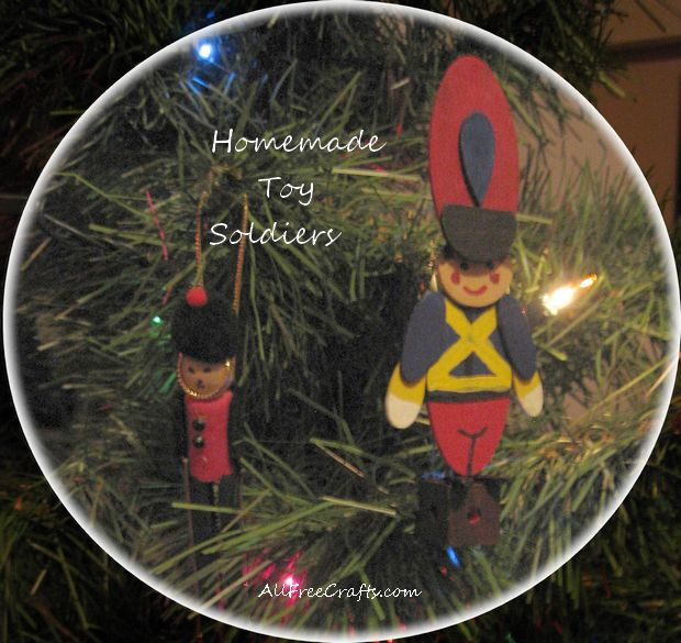 homemade woodsy toy soldiers - Christmas Decorations Wooden Soldiers