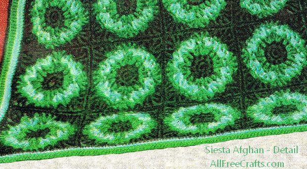 siesta afghan - motif detail
