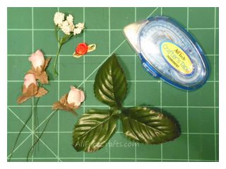 silk rosebuds and crafters tape
