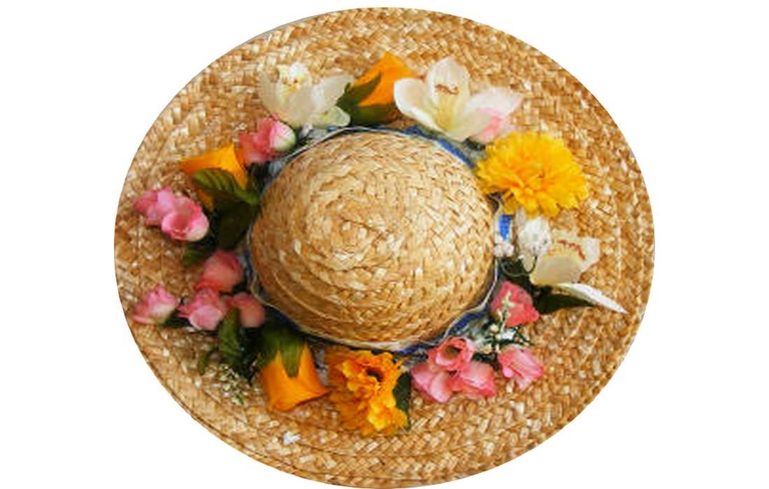floral easter hat
