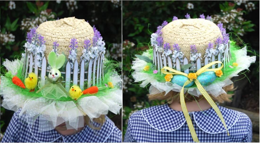 picket fence Easter bonnet