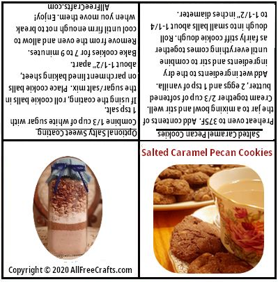 printable jar label for salted caramel pecan cookies