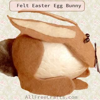 felt Easter egg bunny