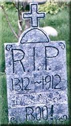 fake tombstones