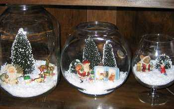 Christmas Display Under Glass All Free Crafts