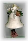 decoupage bell ornament