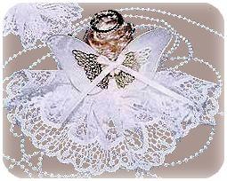 porcelain angel back view