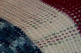 patriotic afghan closeup