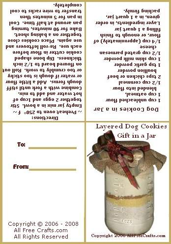 Dog Cookie Jar Mix All Free Crafts