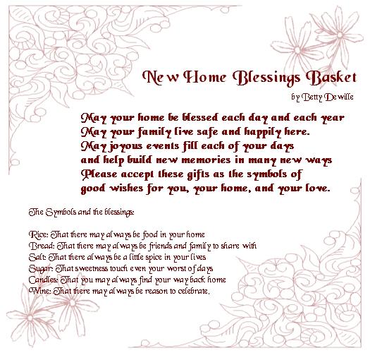 New Home Blessings Basket