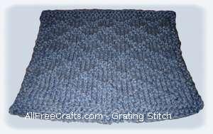 grating stitch dishcloth