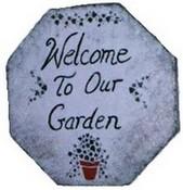 homemade garden stepping stone