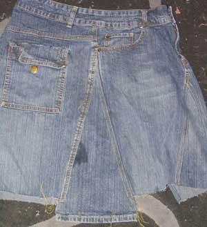 denim skirt pattern 1949